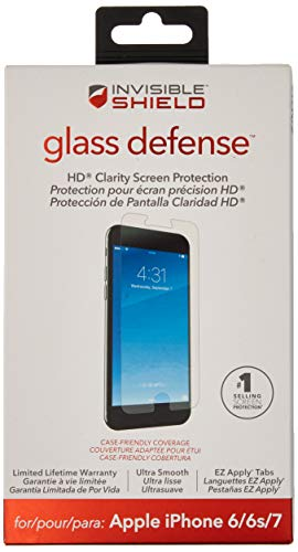ZAGG InvisibleShield Glass Defense – Screen Protector for Apple iPhone 7,...