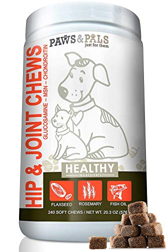 Paws & Pals Max Strength Glucosamine for Dogs Hip and Joint Supplement -...