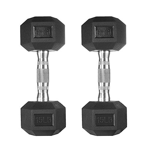 papababe Dumbbells Free Weights Dumbbells Weight Set Rubber Coated cast...