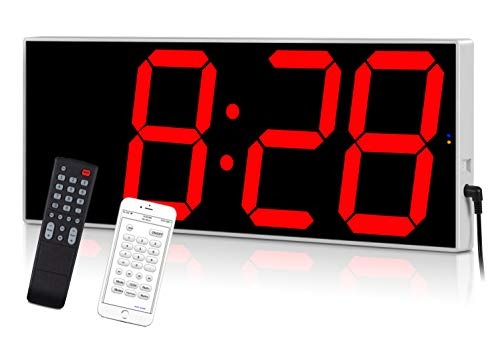 West Ocean Digital LED Wall Clock Large Oversized Display with Wireless...