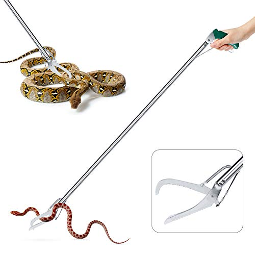 GYORGKSHI 47' Extra Heavy Duty Snake Tongs Reptile Grabber Catcher Wide Jaw...