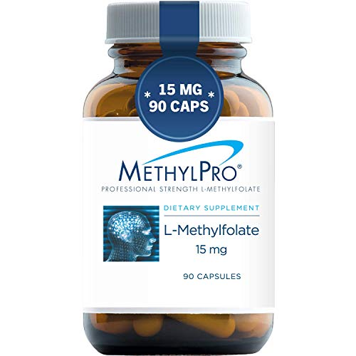MethylPro 15mg L-Methylfolate (90 Capsules) - Professional Strength Active...