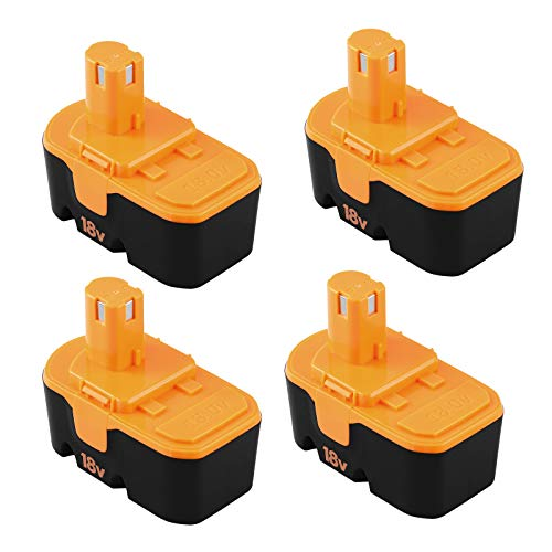4Pack 3.6Ah Replacement Battery Compatible with Ryobi 18V Battery P100 P101...