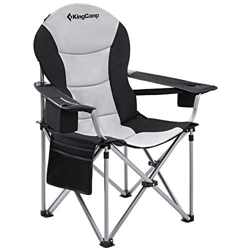 KingCamp Oversized Camping Chair Heavy Duty Padded Outdoor Camp Folding...