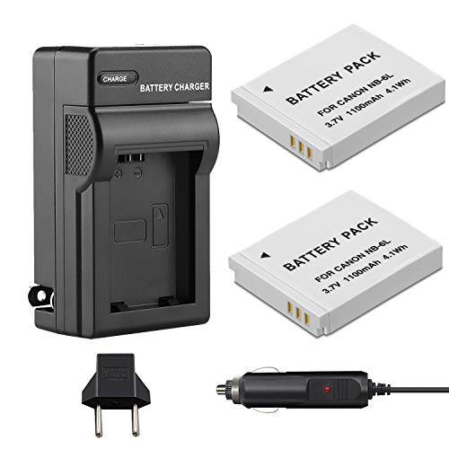 Venwo 2 Pack NB-6L/NB-6LH Battery and Charger kit Compatible with Canon...