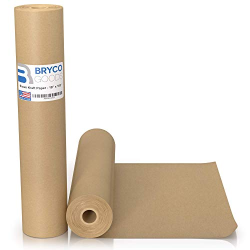 Brown Kraft Paper Roll - 18' x 1,200' (100') Made in The USA - Ideal for...