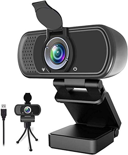 1080P Webcam,Live Streaming Web Camera with Stereo Microphone, Desktop or...