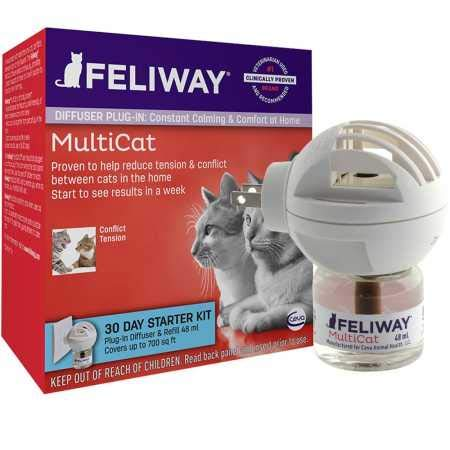 FELIWAY MultiCat Starter Kit for Cats (Diffuser and 48 ml vial)