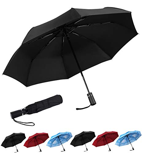 SY Compact Travel Umbrella Automatic Windproof Umbrellas Strong Compact...