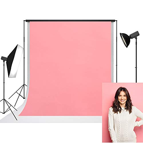 UrcTepics 5x7ft Pro Microfiber Peach Pink Solid Color Photography...