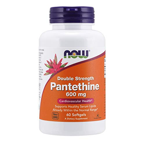 NOW Supplements, Pantethine (Coenzyme A Precursor) 600 mg, Double Strength,...