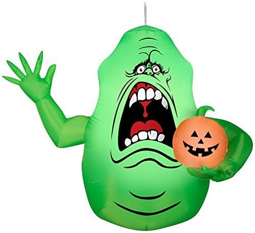 Gemmy Airblown Hanging Slimer Ghostbusters, 5 ft Tall, Green