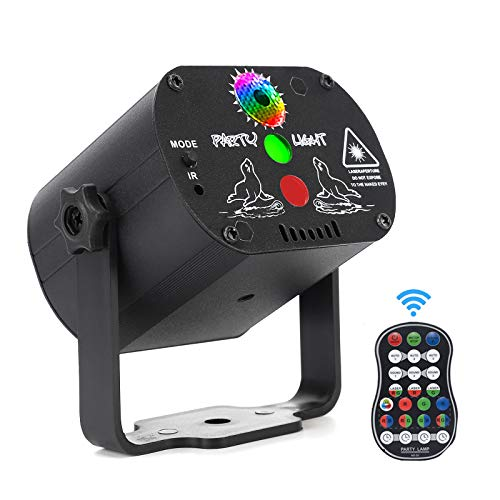 Laser Lights,DJ Disco Stage Party Lights Sound Activated RGB Led Projector...