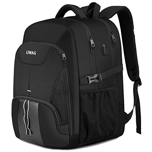 Extra Large Backpack for Men 50L,Water Resistant 17.3 inch Travel Laptop...