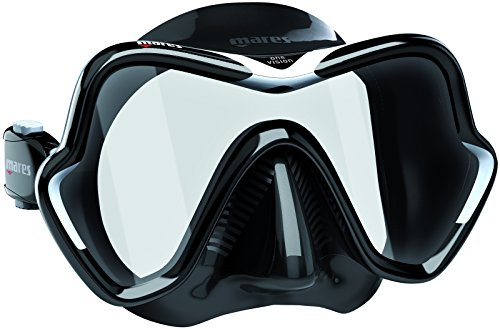 Mares One Vision Scuba Diving Snorkeling Mask, Black White
