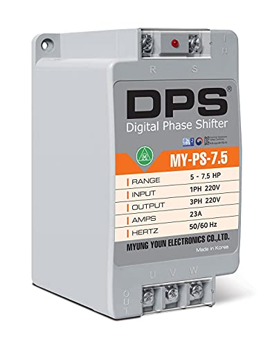 Single Phase to 3 Phase Converter, MY-PS-7.5, Best for 5HP(3.7Kw) 15 Amp...