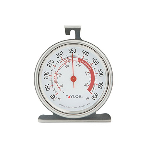Taylor Precision Products 5932 Large Dial Kitchen Cooking Oven Thermometer,...