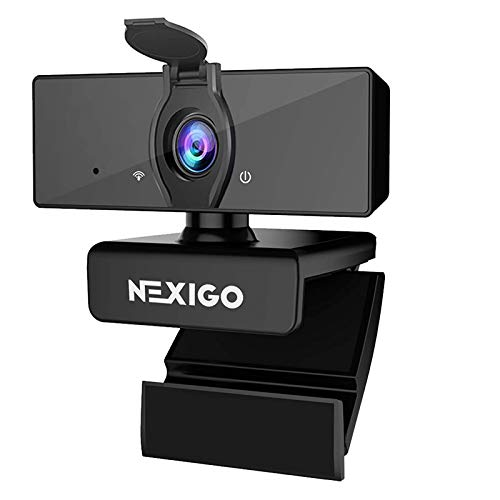 1080P Business Webcam with Software, Dual Microphone & Privacy Cover,...