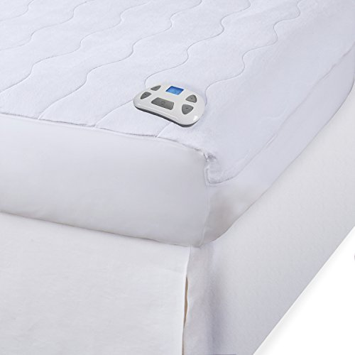 Serta   Silky Smooth Plush Velour Electric Heated Mattress Pad with...