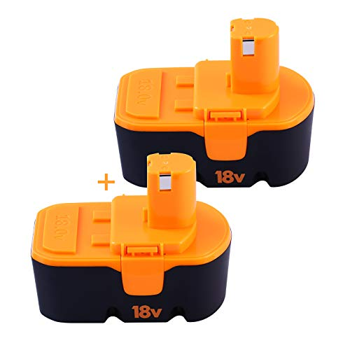 2 Packs 3.6Ah 18V Ni-Mh Replacement Battery Compatible with Ryobi 18V...