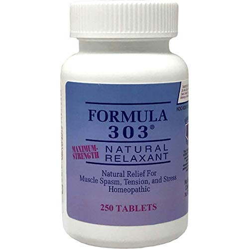 Dee Cee Labs Formula 303 Maximum Strength All-Natural Relaxant Tablets, 250...