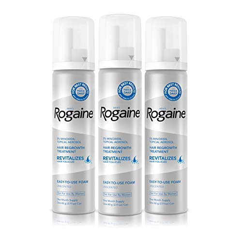 Men's Rogaine 5% Minoxidil Foam for Hair Loss and Hair Regrowth, Topical...
