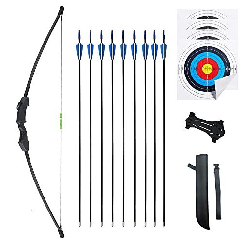 Mxessua 45' Recurve Bow and Arrows Set Outdoor Archery Beginner Gift...
