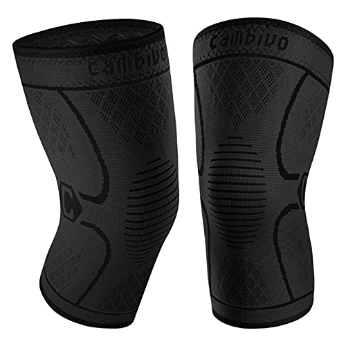 CAMBIVO 2 Pack Knee Brace, Knee Compression Sleeve for Men and Women, Knee...