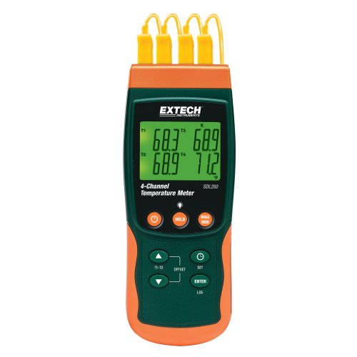 Extech SDL200 Four-Channel Thermometer SD Logger