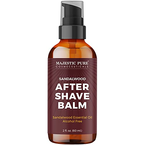 Majestic Pure After Shave Balm for Men - with Sandalwood Oil, Luxury After...