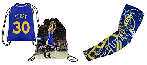 Curry #30 Basketball Set Picture Drawstring Backpack & Matching Compression...