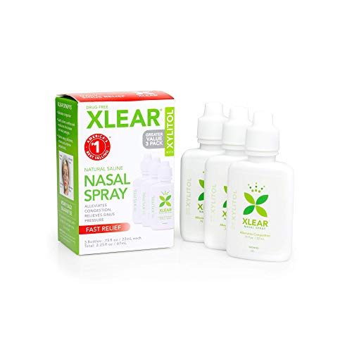 Xlear Nasal Spray with Xylitol, All-Natural Saline Nasal Spray for Sinus...