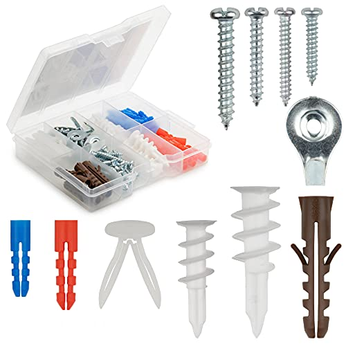 Qualihome Drywall and Hollow-Wall Anchor Assortment Kit, Anchors, Screws,...