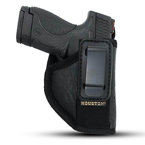 IWB TUCKABLE Gun Holster by Houston - ECO Leather Concealed Carry Soft...
