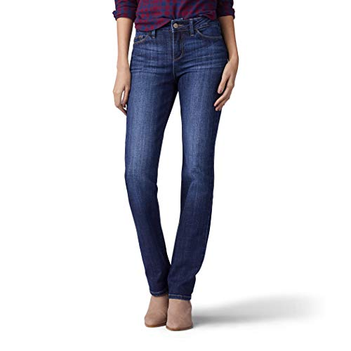 LEE Women's Secretly Shapes Regular Fit Straight Leg Jean, Bewitched,12...