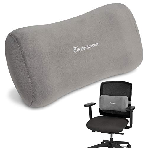 RELAX SUPPORT Office Chair Back Support Pillow RS11-X Lumbar Cushion for...