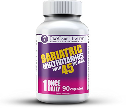 Bariatric Once-A-Day Multivitamin 90 Ct Capsule-45mg Iron Made for Gastric...