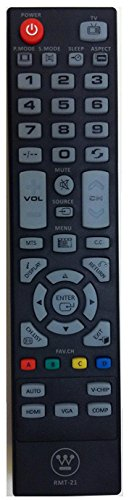 Westinghouse HD TV RMT-21 RMT21 Remote Control for CW40T2RW CW40T6DW...