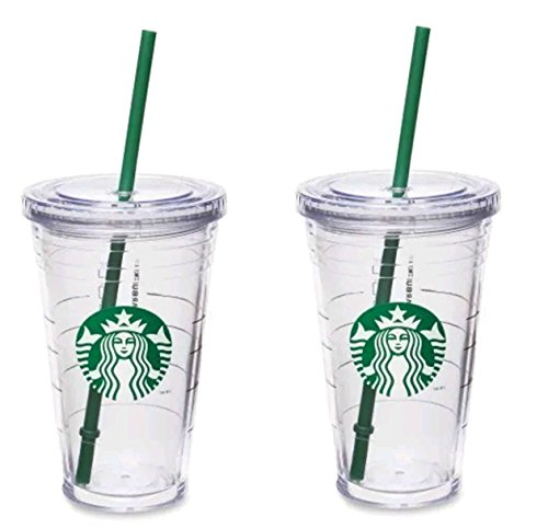 Starbucks Grande Insulated Travel Tumbler 16 OZ Double Wall Acrylic 2 Pack...