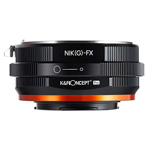 K&F Concept Lens Mount Adapter with Aperture Control Ring for Nikon...