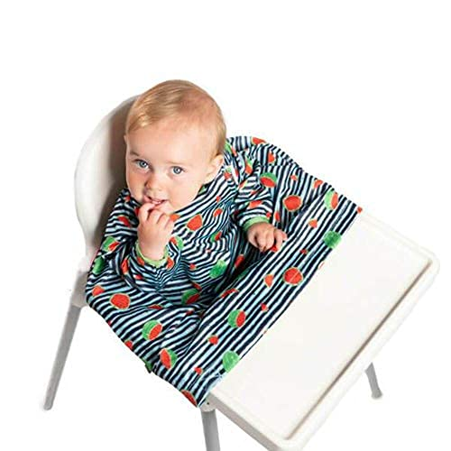 Bibado Wipe Clean Baby & Toddler Weaning Bib Coverall Attaches to Highchair...