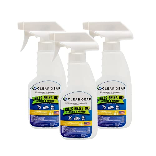 Clear Gear - Disinfecting Spray 3-Pack of 8 Ounce Bottles - Disinfectant,...