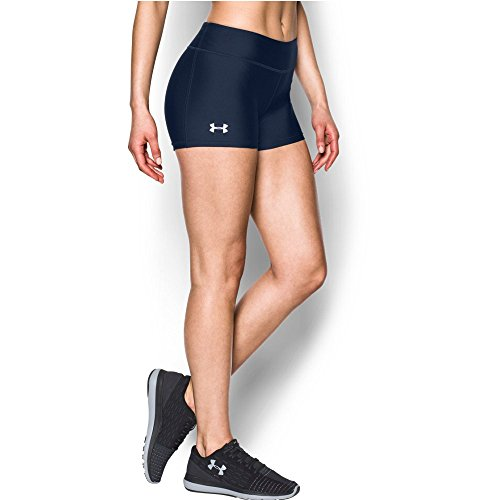 Under Armour Women's On The Court 3' Shorts,Midnight Navy /White, Small