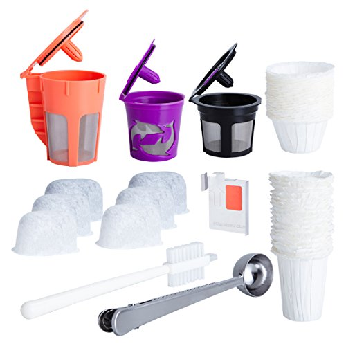 Reusable K Carafe and Cups for Keurig 2.0 Bundle with Water Filters,...
