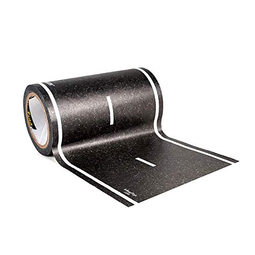 PlayTape Black Road 30'x4' - Road Car Tape Great for Kids, Sticker Roll for...