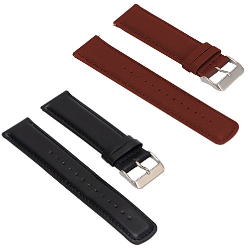 Set of 2 Replacement Leather Bands for ASUS ZenWatch 2 Smartwatch 1.63'...