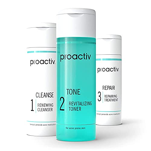 Proactiv 3 Step Acne Treatment - Benzoyl Peroxide Face Wash, Repairing Acne...
