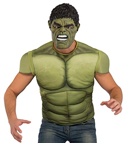 Rubie's Men's Avengers 2 Age of Ultron Hulk Muscle Chest and Mask, X-Large