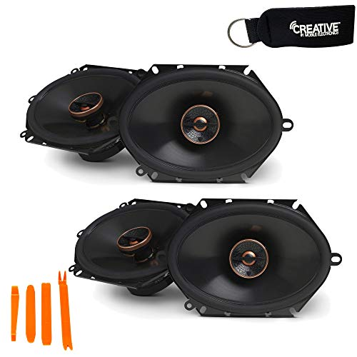 Infinity - Two Pairs of REF-8632CFX Reference 6x8 Inch Two-Way car Audio...