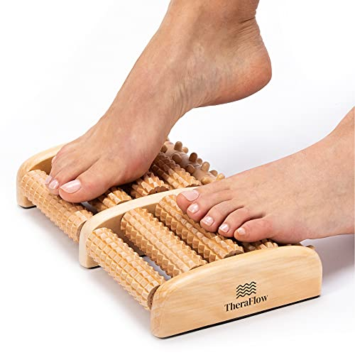 TheraFlow Large Dual Foot Massager Roller. 2020 Updated Version....